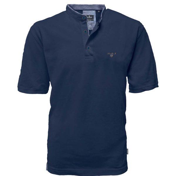 T-Shirt Mao Collar Pique DOUBLE PS-265S Navy