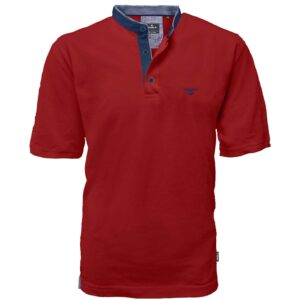 T-Shirt Mao Collar Pique DOUBLE PS-265S Κόκκινο