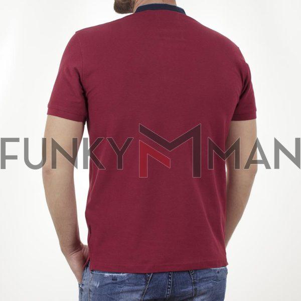 T-Shirt Mao Collar Pique DOUBLE PS-265S Κόκκινο