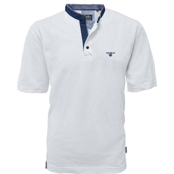 T-Shirt Mao Collar Pique DOUBLE PS-265S Λευκό