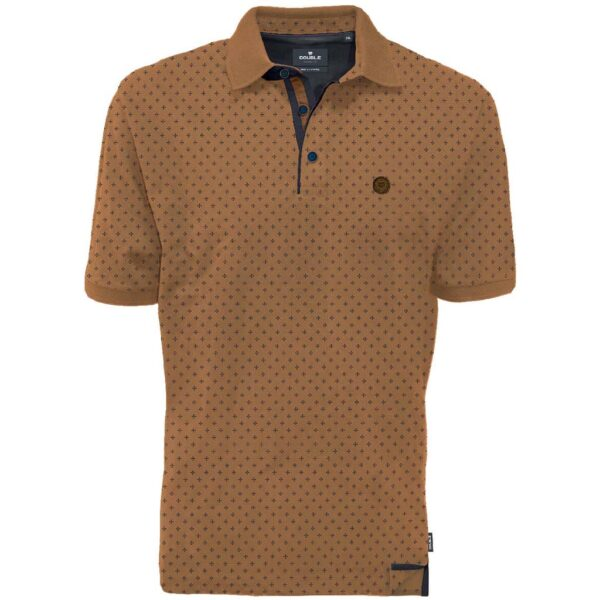 Κοντομάνικο Pique Polo DOUBLE PS-266S Camel