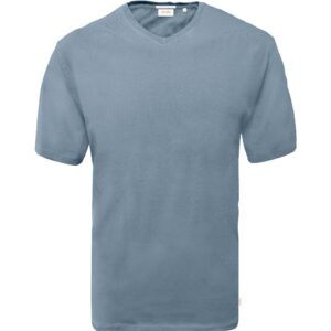 T-Shirt V-Neck DOUBLE TS-151 ανοιχτό Μπλε