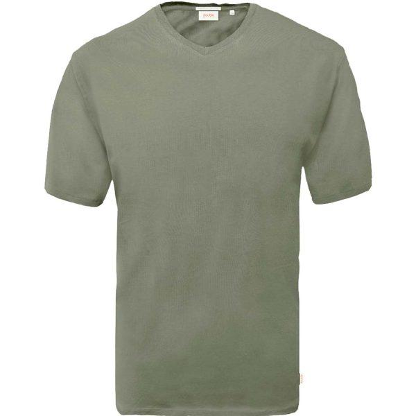 T-Shirt V-Neck DOUBLE TS-151 Χακί
