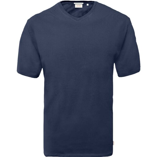 T-Shirt V-Neck DOUBLE TS-151 Μπλε