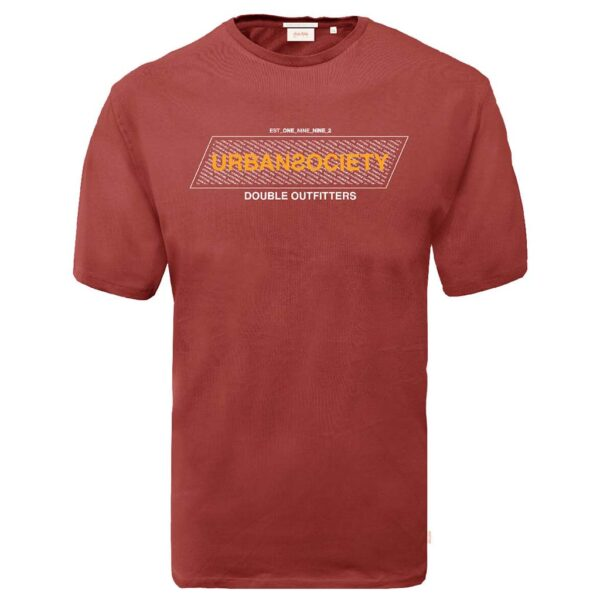 Graphic Print T-Shirt DOUBLE TS-164 Κόκκινο