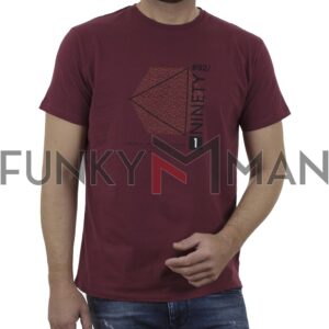 Graphic Print T-Shirt DOUBLE TS-166 Cherry