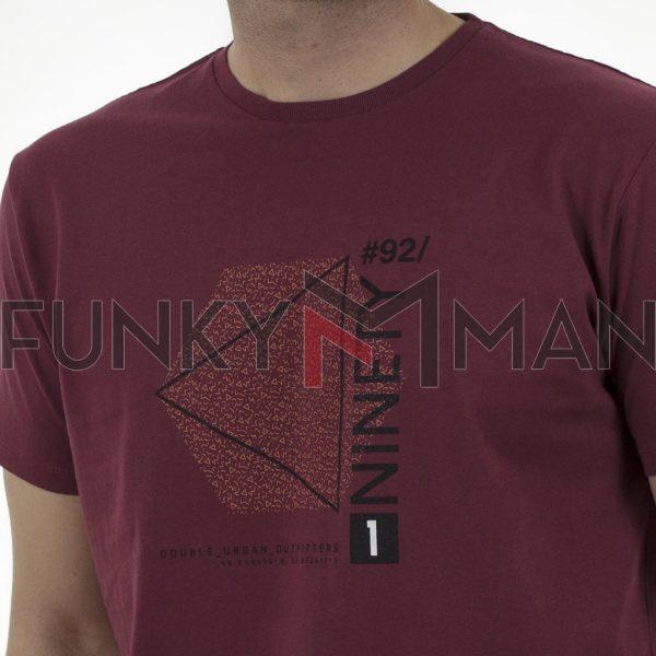 Graphic Print T-Shirt DOUBLE TS-166 Cherry