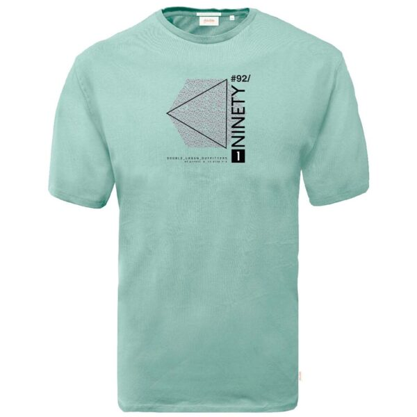 Graphic Print T-Shirt DOUBLE TS-166 ανοιχτό Πράσινο