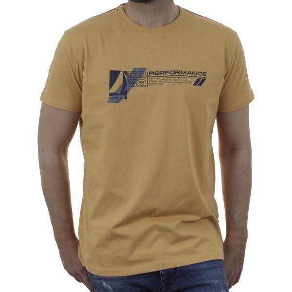 Graphic Print T-Shirt DOUBLE TS-167 Κίτρινο