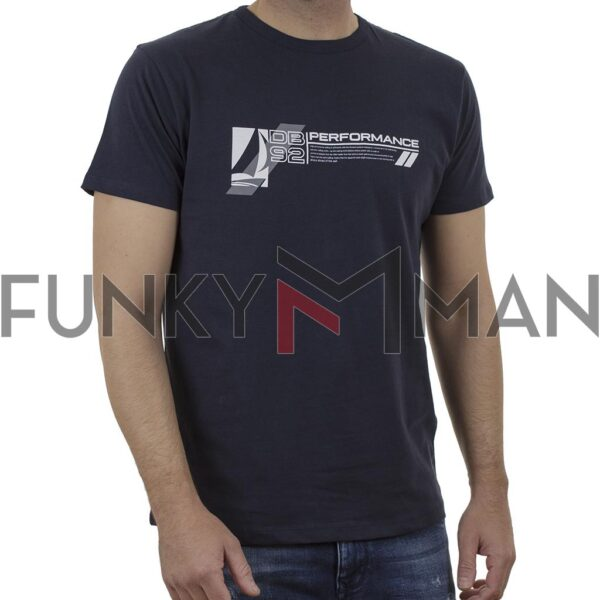 Graphic Print T-Shirt DOUBLE TS-167 Navy