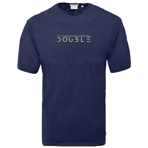 Graphic Print T-Shirt DOUBLE TS-170N Navy