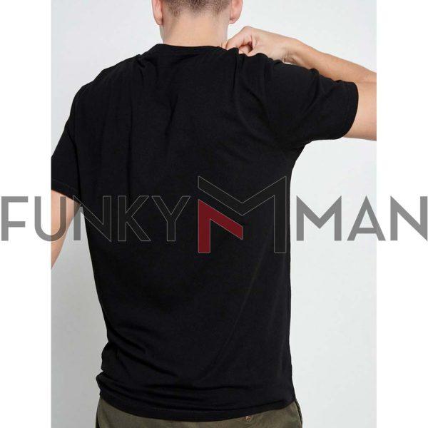 Essential T-Shirt FUNKY BUDDHA FBM003-001-04 Μαύρο