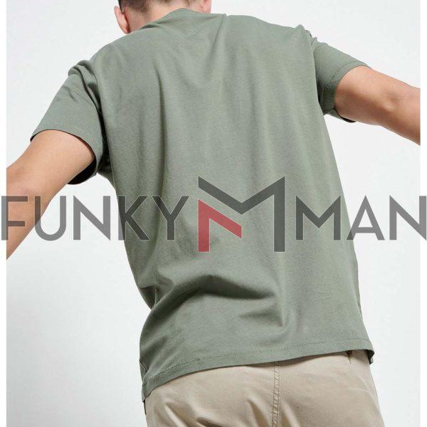 Essential T-Shirt FUNKY BUDDHA FBM003-001-04 Χακί