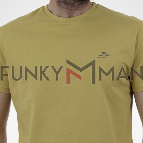 Essential T-Shirt FUNKY BUDDHA FBM003-001-04 Μουσταρδί