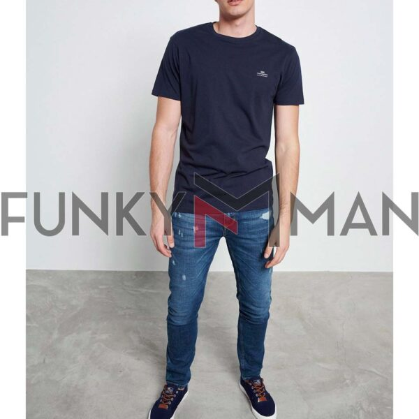 Essential T-Shirt FUNKY BUDDHA FBM003-001-04 Navy