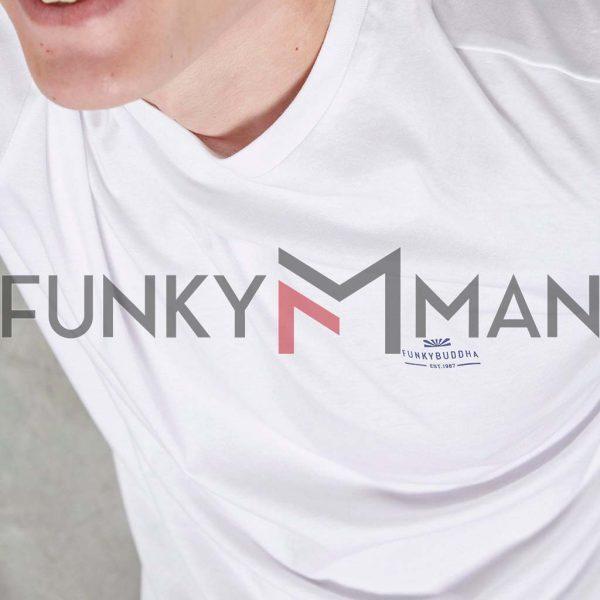 Essential T-Shirt FUNKY BUDDHA FBM003-001-04 Λευκό