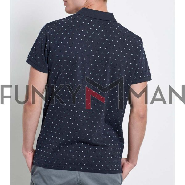 Fashion Pique Polo FUNKY BUDDHA FBM003-097-04 Navy