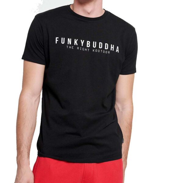 T-Shirt FUNKY BUDDHA FBM003-008-04 Μαύρο