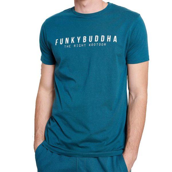 T-Shirt FUNKY BUDDHA FBM003-008-04 Petrol