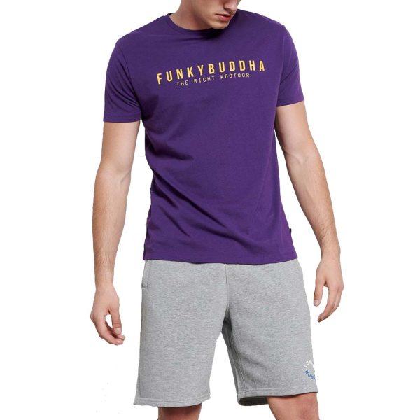 T-Shirt FUNKY BUDDHA FBM003-008-04 Μωβ