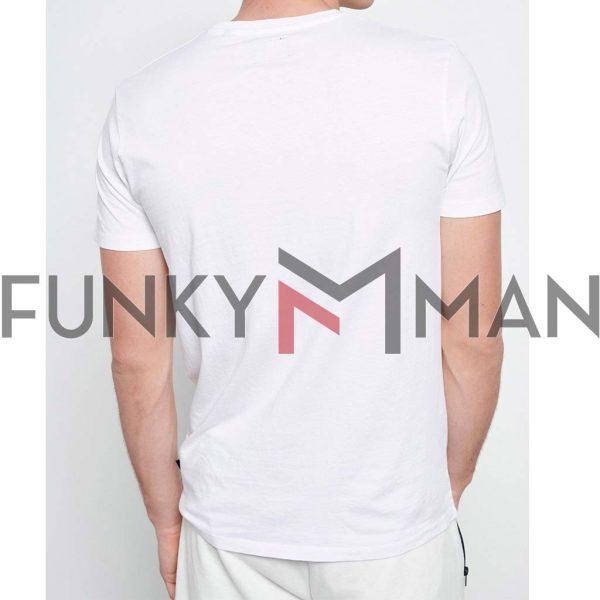 T-Shirt FUNKY BUDDHA FBM003-008-04 Λευκό