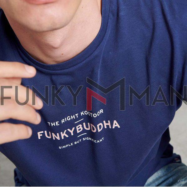T-Shirt Organic Cotton FUNKY BUDDHA FBM003-009-04 Ink