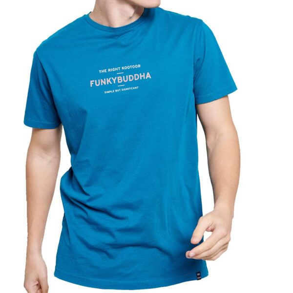 T-Shirt Organic Cotton FUNKY BUDDHA FBM003-009-04 ανοιχτό Μπλε