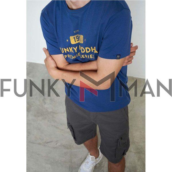 T-Shirt Organic Cotton FUNKY BUDDHA FBM003-013-04 Indigo
