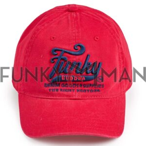 Καπέλο FUNKY BUDDHA FBM003-013-10 Κόκκινο