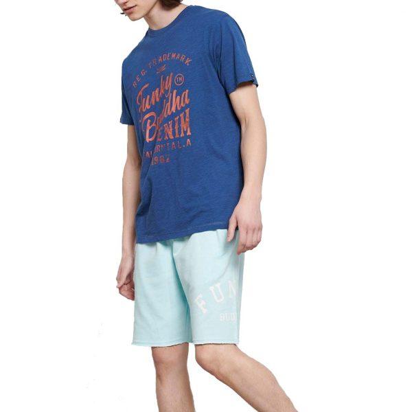 T-Shirt FUNKY BUDDHA FBM003-016-04 Indigo