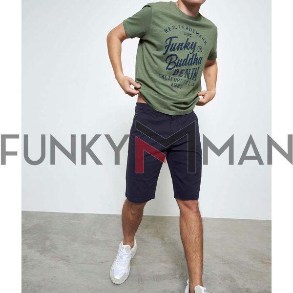T-Shirt FUNKY BUDDHA FBM003-016-04 Χακί