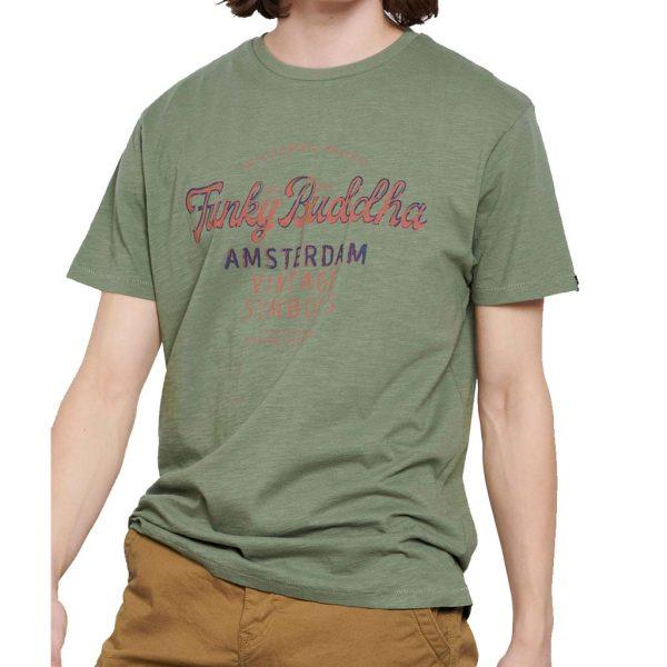 T-Shirt FUNKY BUDDHA FBM003-018-04 Χακί