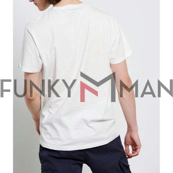 T-Shirt FUNKY BUDDHA FBM003-018-04 Off White
