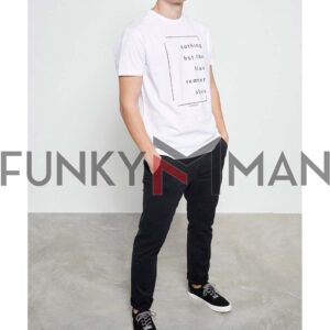 T-Shirt Organic Cotton FUNKY BUDDHA FBM003-023-04 Λευκό