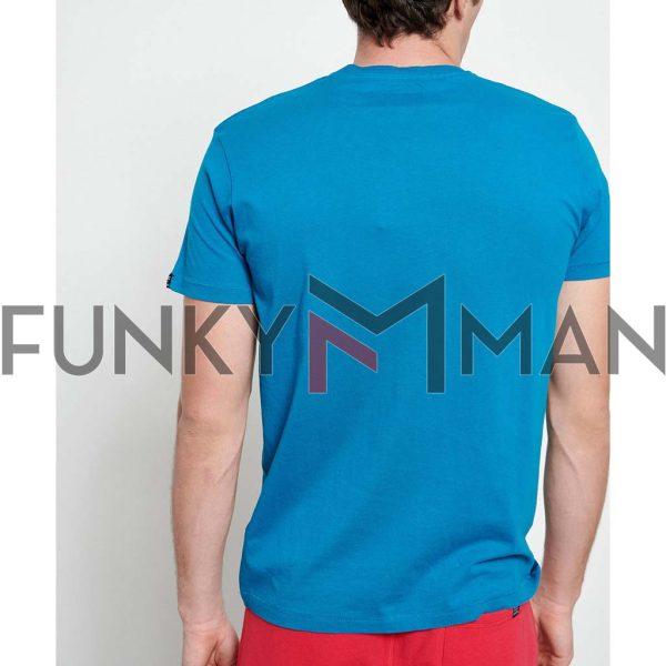 T-Shirt FUNKY BUDDHA Artwork FBM003-024-04 ανοιχτό Μπλε
