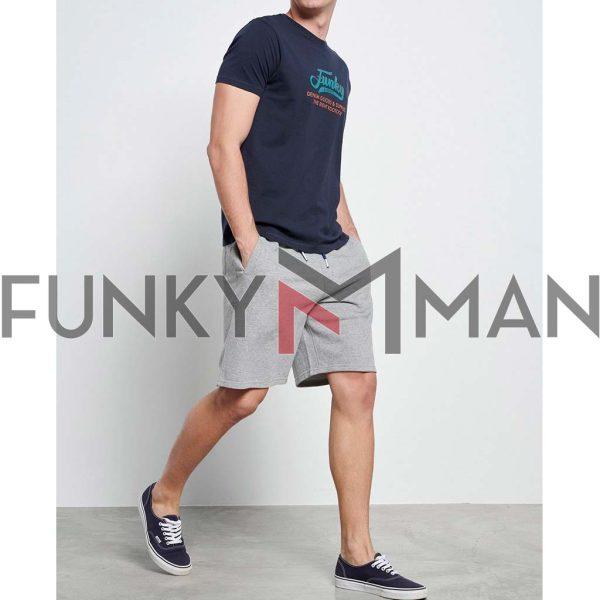 T-Shirt FUNKY BUDDHA Artwork FBM003-024-04 Navy