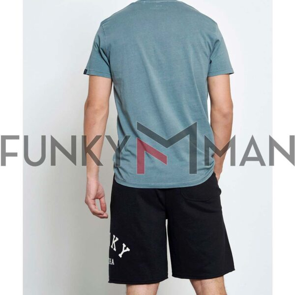 Μακό Loose Fit Βερμούδα FUNKY BUDDHA FBM003-038-03 Μαύρο