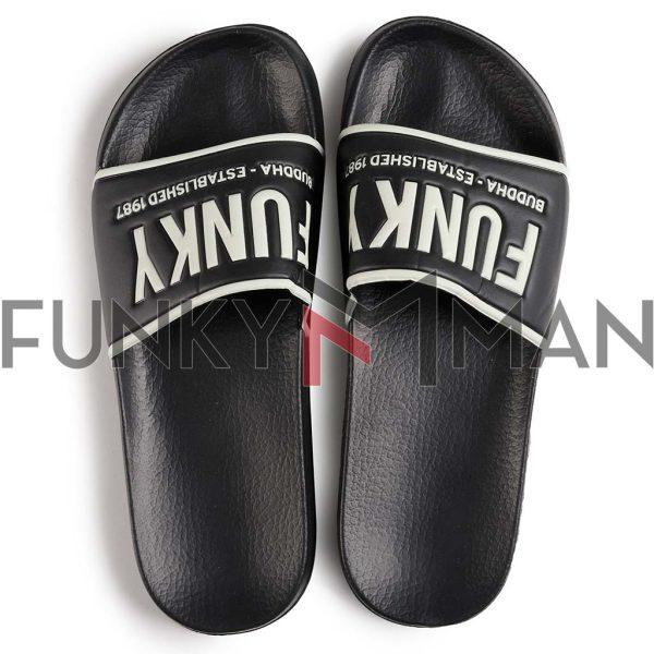 Σαγιονάρες FUNKY BUDDHA FBM003-054-08 Μαύρο