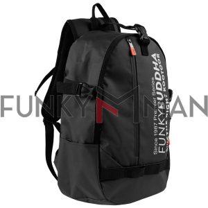 Σακίδιο Πλάτης με Logo FUNKY BUDDHA FBM003-061-10 Μαύρο