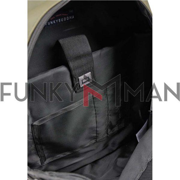 Σακίδιο Πλάτης με Logo FUNKY BUDDHA FBM003-061-10 Χακί
