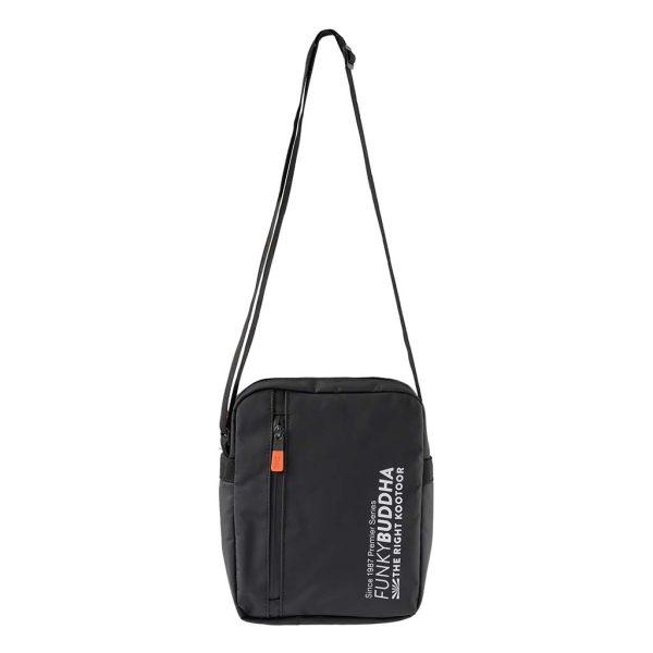 Τσάντα με Logo FUNKY BUDDHA FBM003-062-10 Μαύρο