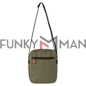 Τσάντα με Logo FUNKY BUDDHA FBM003-062-10 Χακί