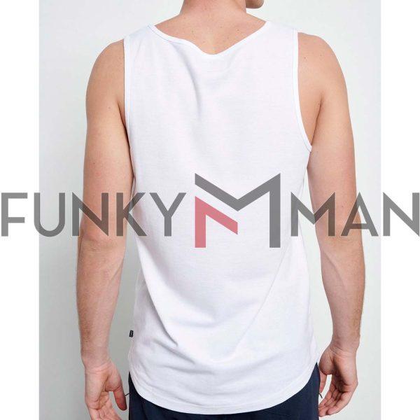 Αμάνικο FUNKY BUDDHA FBM003-326-04 Λευκό