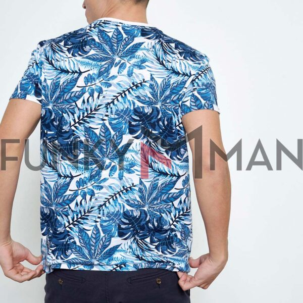 T-Shirt All Over Print FUNKY BUDDHA FBM003-341-04 Μπλε