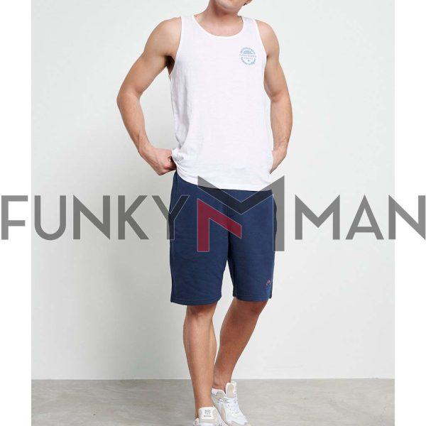 Αμάνικο FUNKY BUDDHA FBM003-354-04 Λευκό