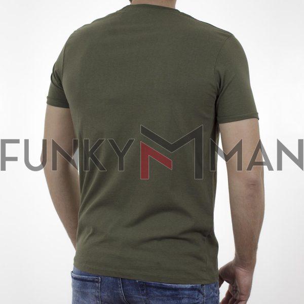Κοντομάνικη Μπλούζα Garage55 GAM003-203-04 Χακί