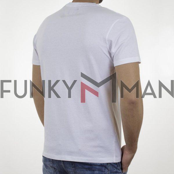Κοντομάνικη Μπλούζα Garage55 GAM003-210-04 Λευκό