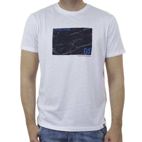 Κοντομάνικη Μπλούζα Garage55 GAM003-218-04 Λευκό