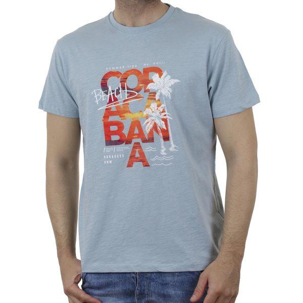 Κοντομάνικη Μπλούζα Garage55 GAM003-220-04 Aqua