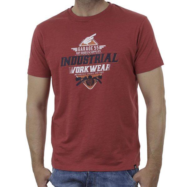 Κοντομάνικη Μπλούζα Garage55 GAM003-231-04 Κόκκινο
